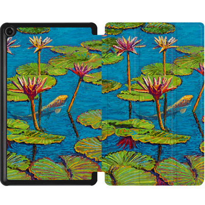 Amazon Fire 7 (2017) Tablet Smart Case - Will Cormier - Six Koi in Lilly Pond von TATE and CO