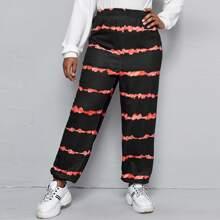 Jogginghose mit Batik und elastischer Taille