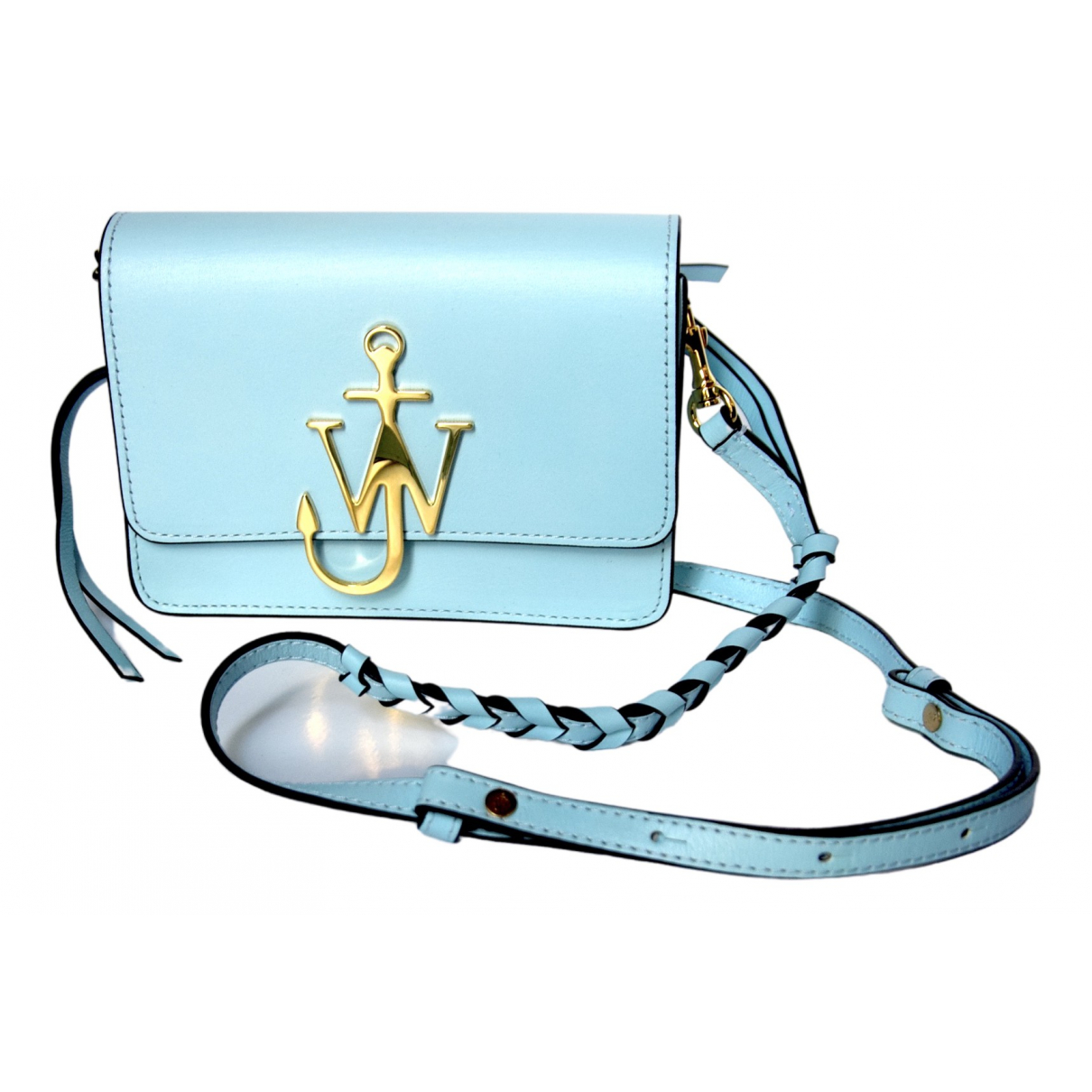 J.w. Anderson Logo Blue Leather handbag for Women \N