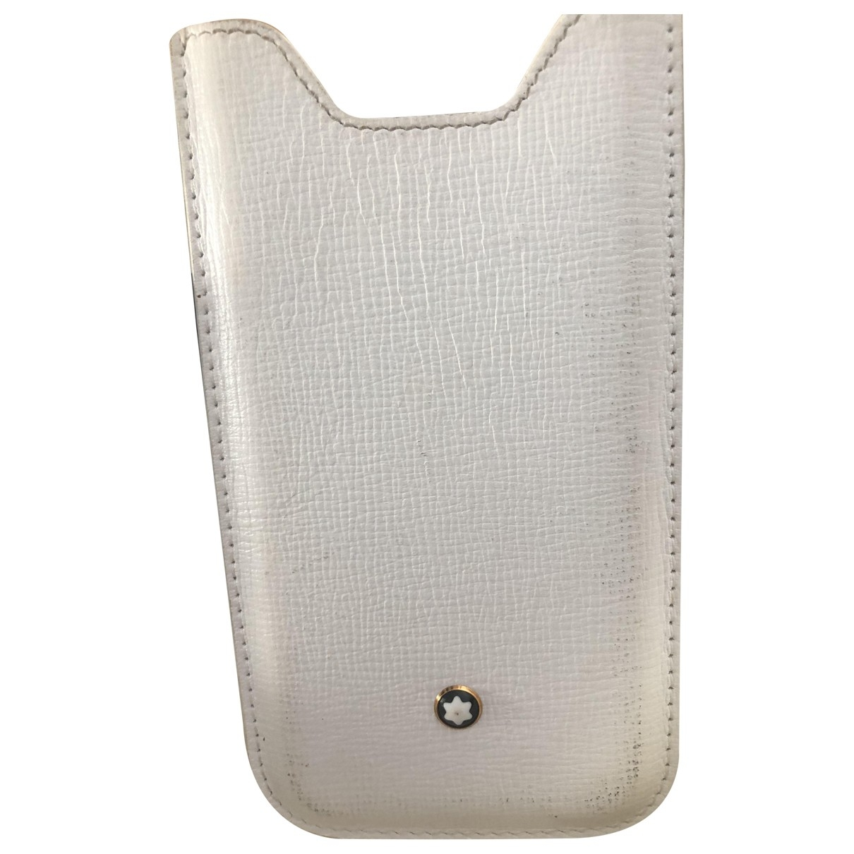 Montblanc \N White Leather Purses, wallet & cases for Women \N