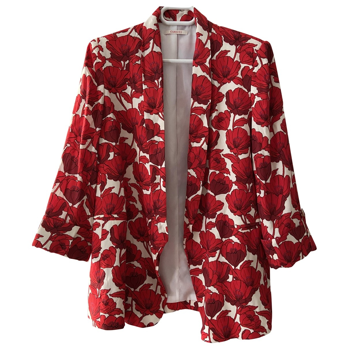 Non Signé / Unsigned \N Red jacket for Women 40 FR