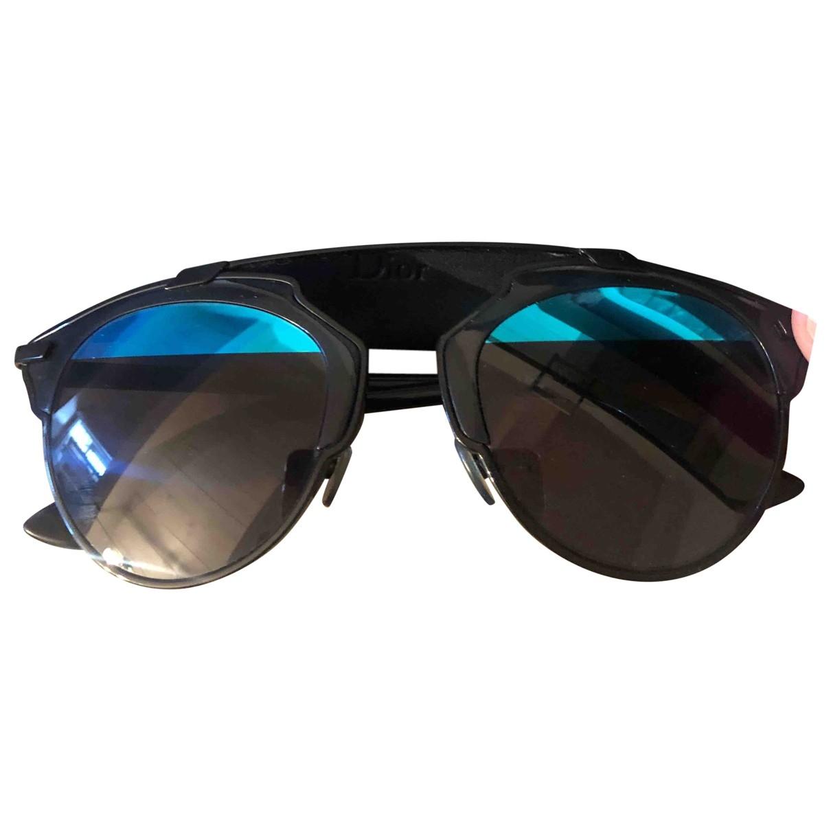 Dior So Real  Sonnenbrillen in  Schwarz Metall