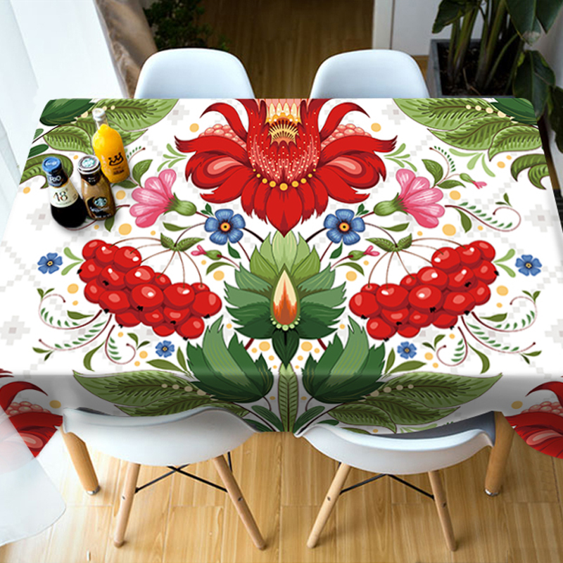 Rectangle Polyester European Style Soft 3D Tablecloth