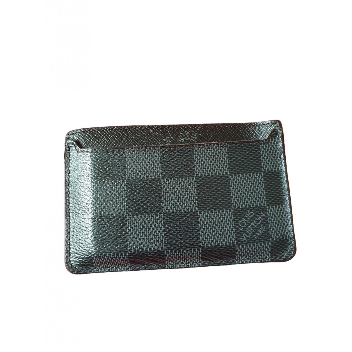 Louis Vuitton - Petite maroquinerie   pour homme en toile - anthracite