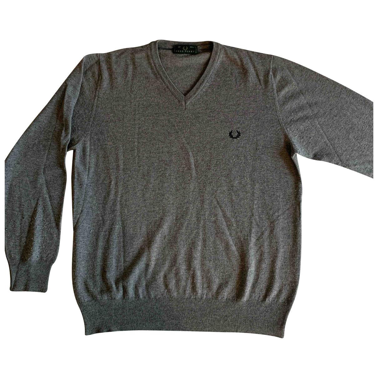 Fred Perry \N Pullover.Westen.Sweatshirts  in  Grau Wolle