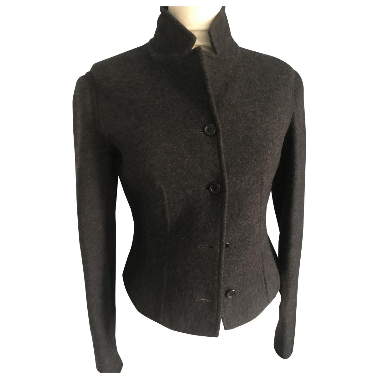 Prada - Veste   pour femme en laine - anthracite