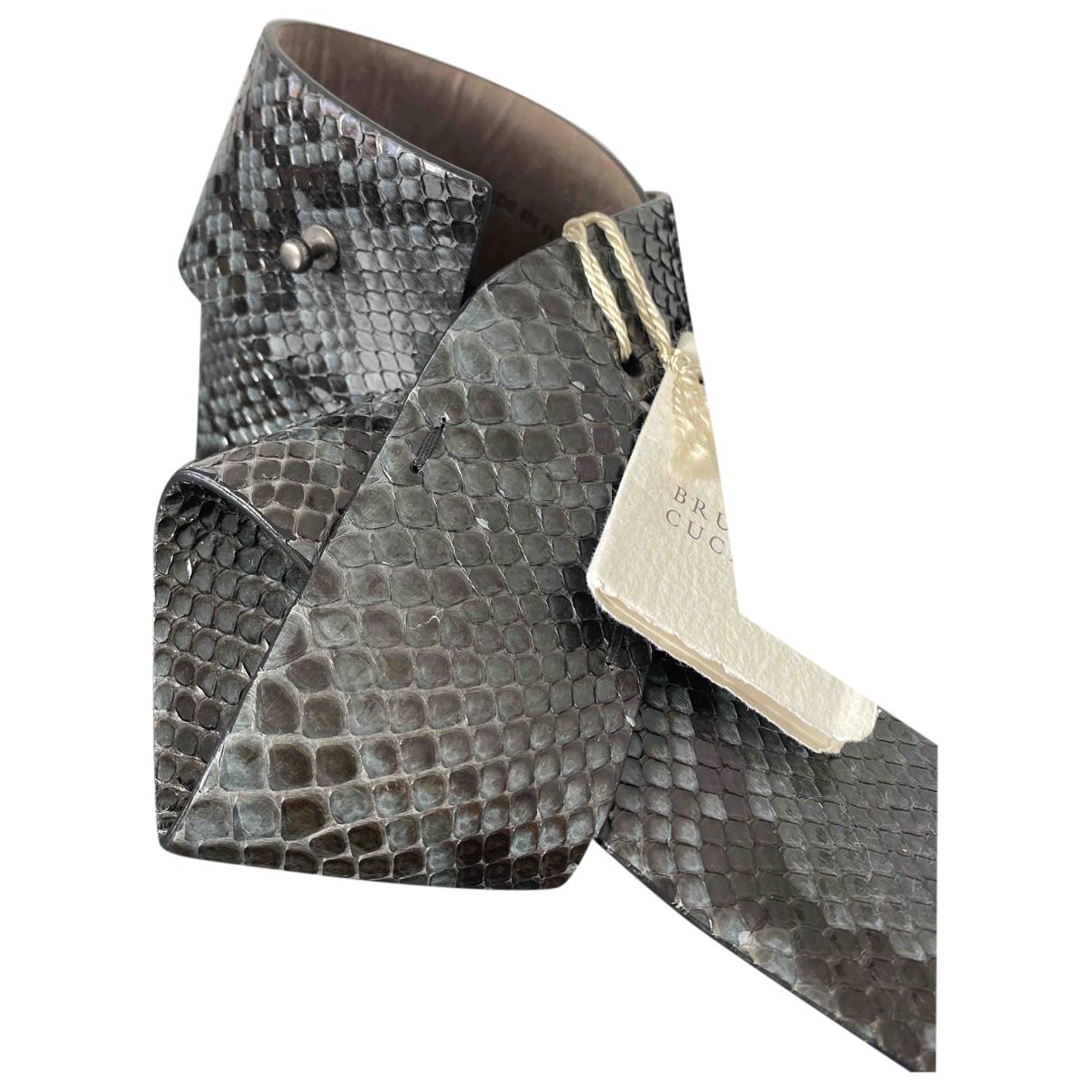 Brunello Cucinelli \N Grey Python belt for Women M International