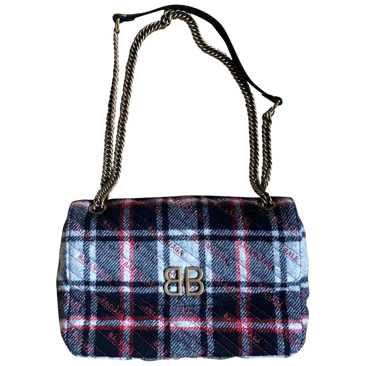Balenciaga BB chain Handtasche in  Rot Tweed
