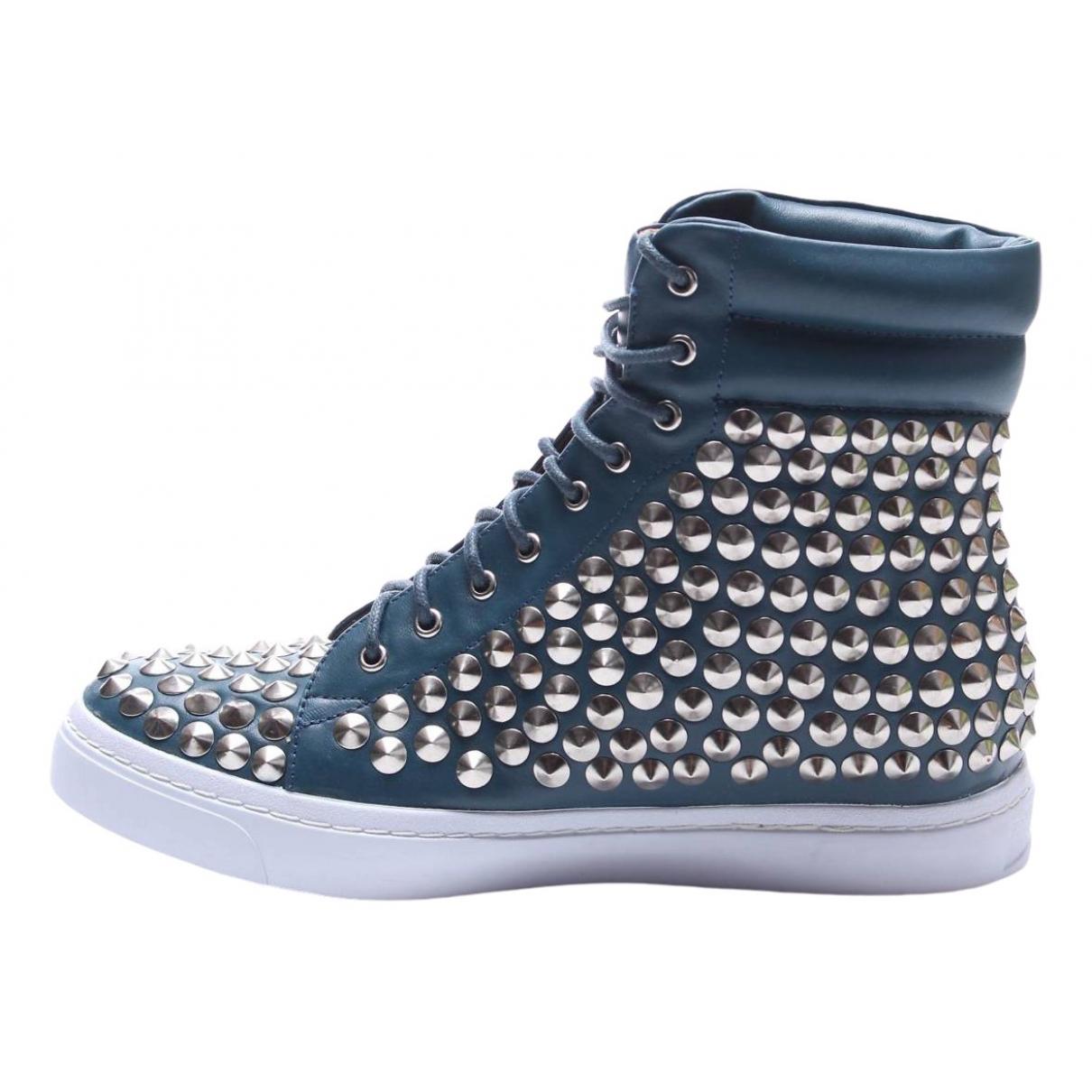 Jeffrey Campbell \N Sneakers in  Gruen Leder