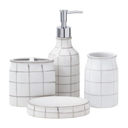 Landon 4 Pc Bath Accessory Set, One Size , Gray