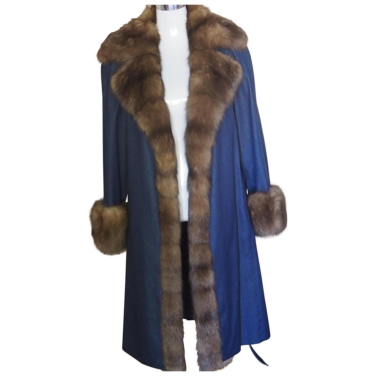 Carlo Tivioli \N Blue Cashmere coat for Women 42 IT