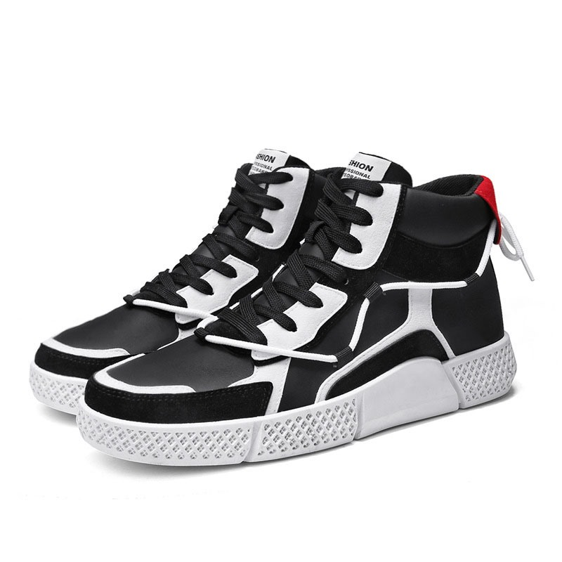 Ericdress High-Cut Upper Color Block Round Toe Men's Skate Shoes