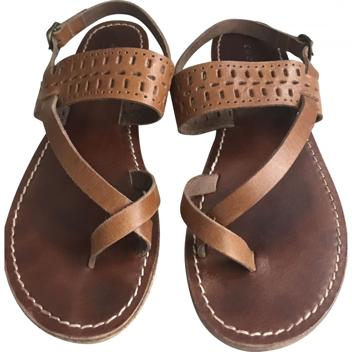 Soeur \N Brown Leather Sandals for Women 39 EU