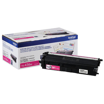 Brother TN436M Original Magenta Toner Cartridge Extra High Yield 6500 Pages