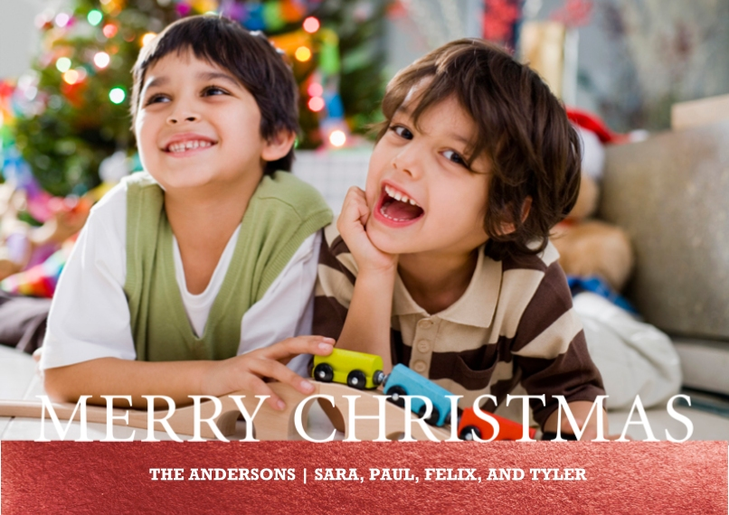 Christmas Photo Cards Flat Matte Photo Paper Cards with Envelopes, 5x7, Card & Stationery -Merry Christmas Serif