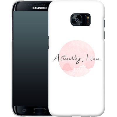 Samsung Galaxy S7 Edge Smartphone Huelle - Actually, I can von caseable Designs