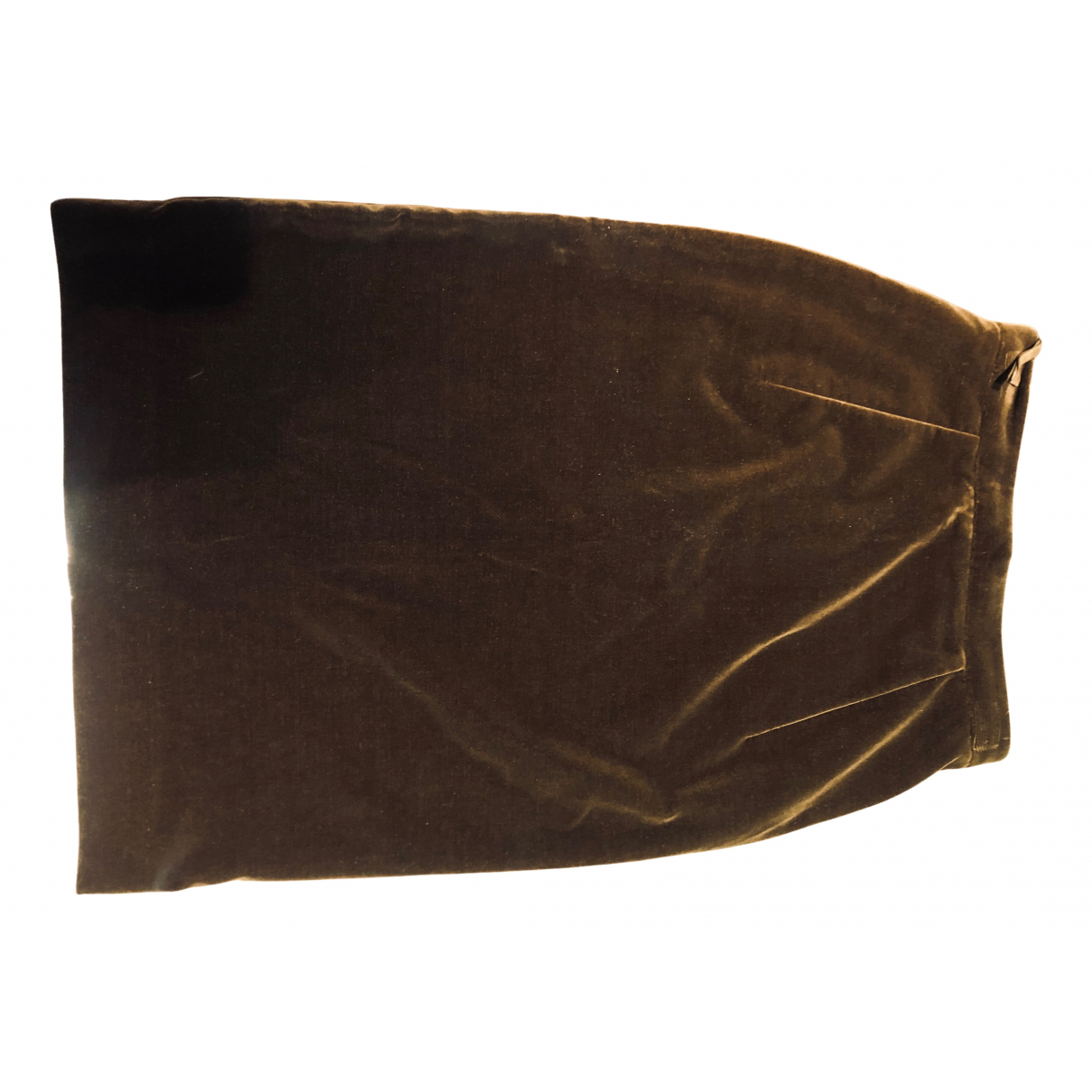 Yves Saint Laurent N Brown Velvet skirt for Women 38 FR