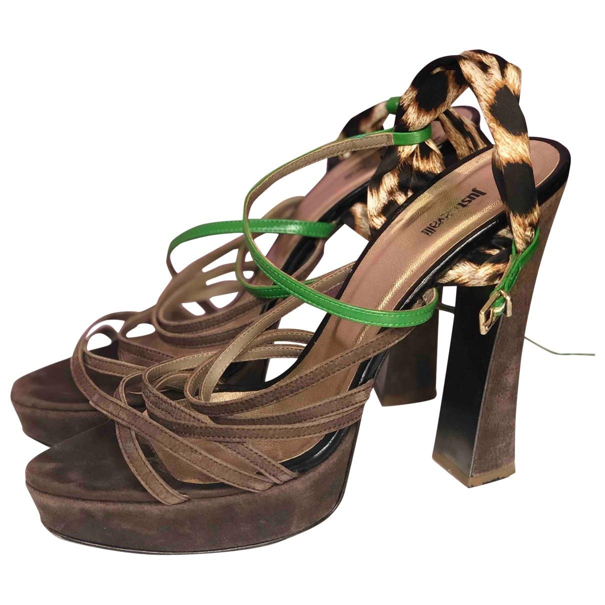 Just Cavalli - Escarpins   pour femme en cuir - marron