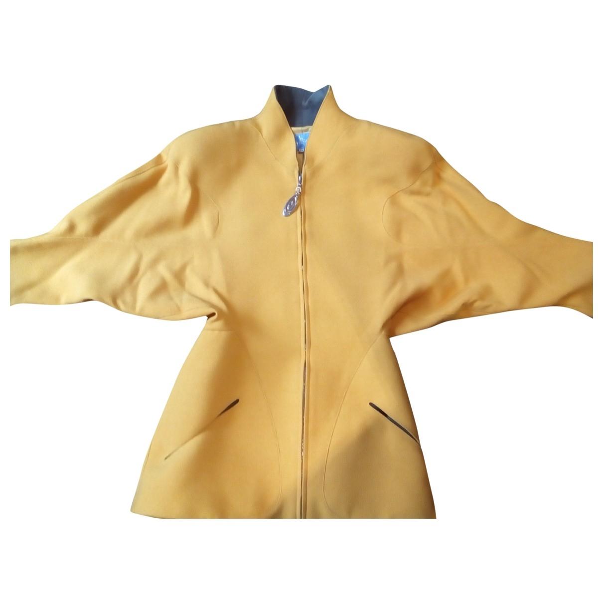 Thierry Mugler \N Yellow Wool jacket for Women 36 FR