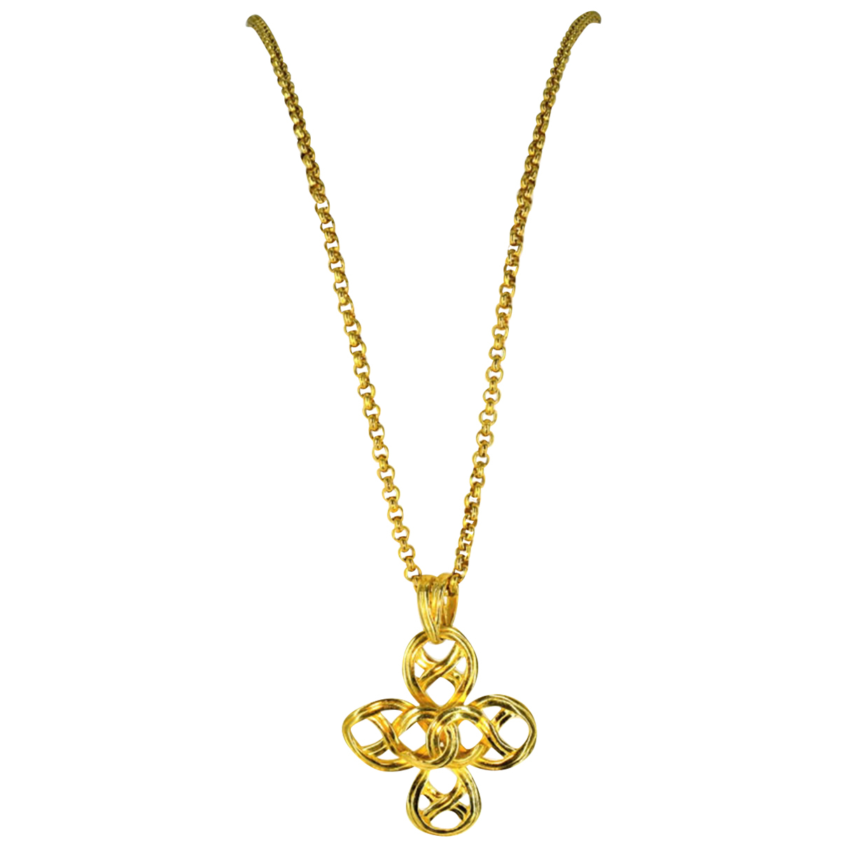 Chanel CC Gold Metal Long necklace for Women N