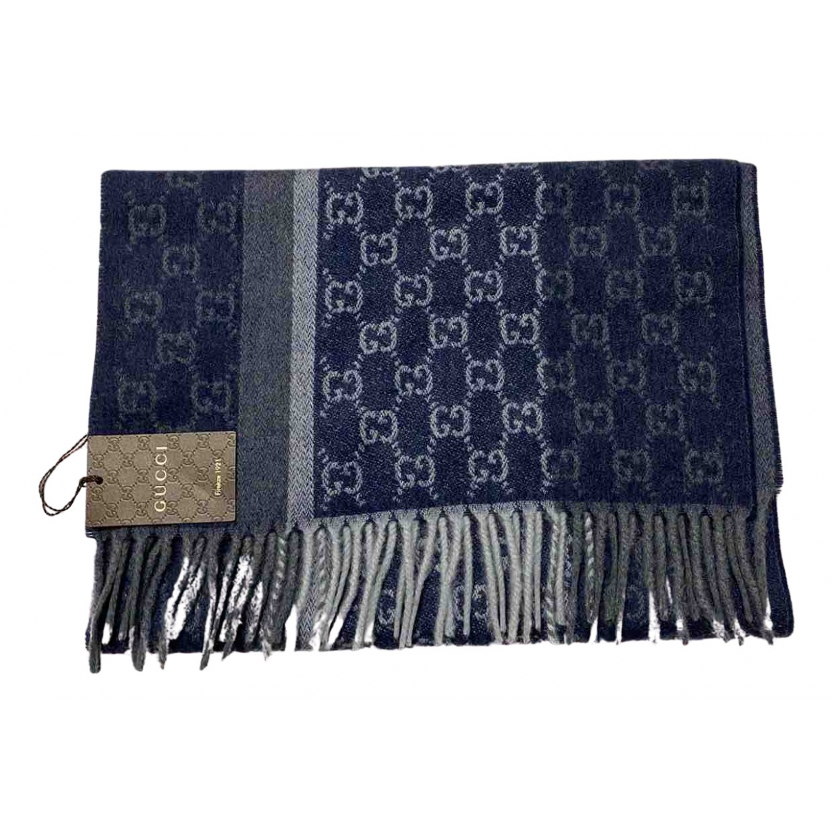 Gucci N Blue Wool scarf for Women N