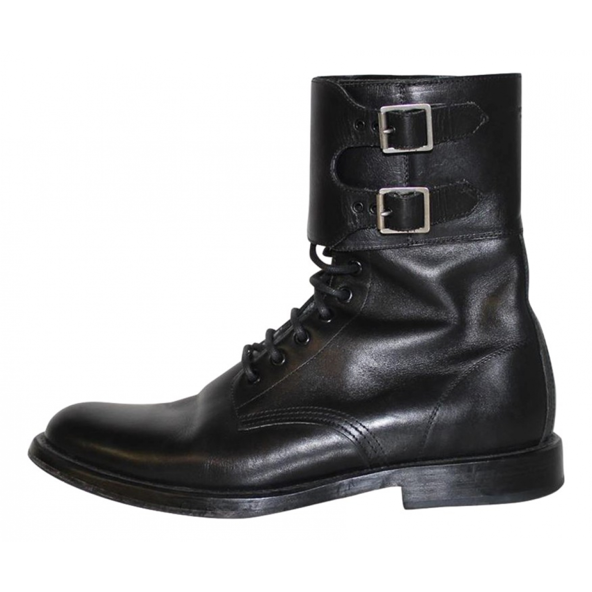 Saint Laurent N Black Leather Boots for Men 39 EU