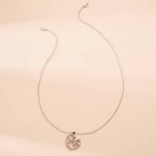 Herzbuchstaben-Charm-Halskette