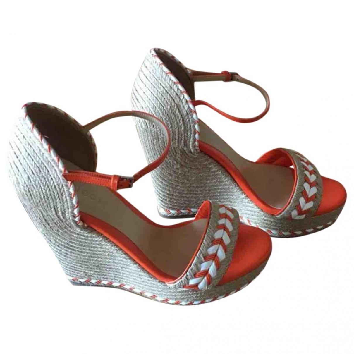 Gucci \N Orange Cloth Sandals for Women 37 EU