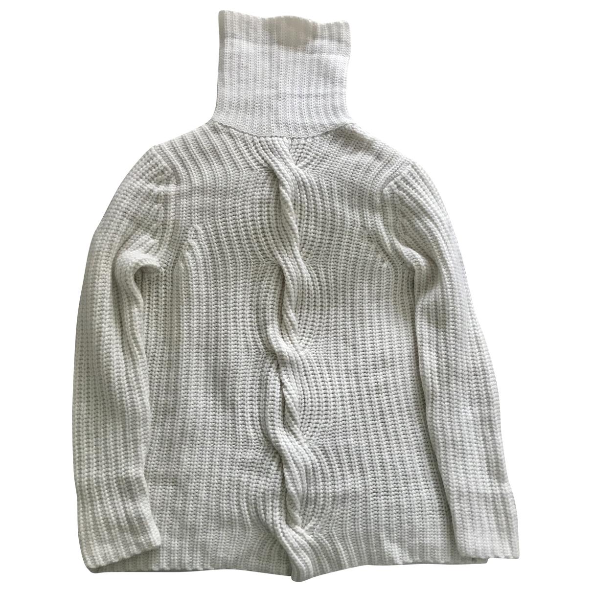 Eric Bompard - Pull   pour femme en cachemire - blanc