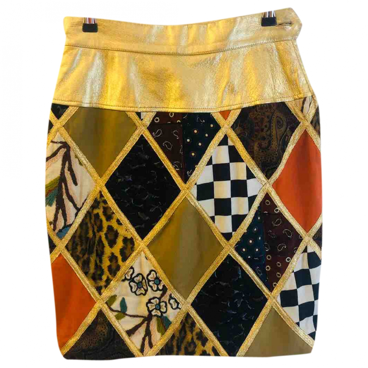 Mini falda de Terciopelo Moschino