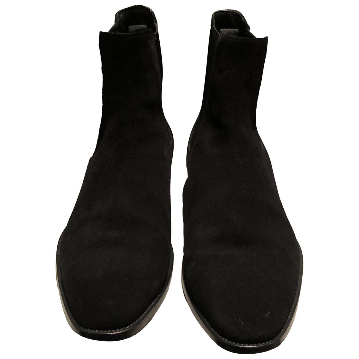 Saint Laurent N Black Suede Boots for Men 43.5 EU