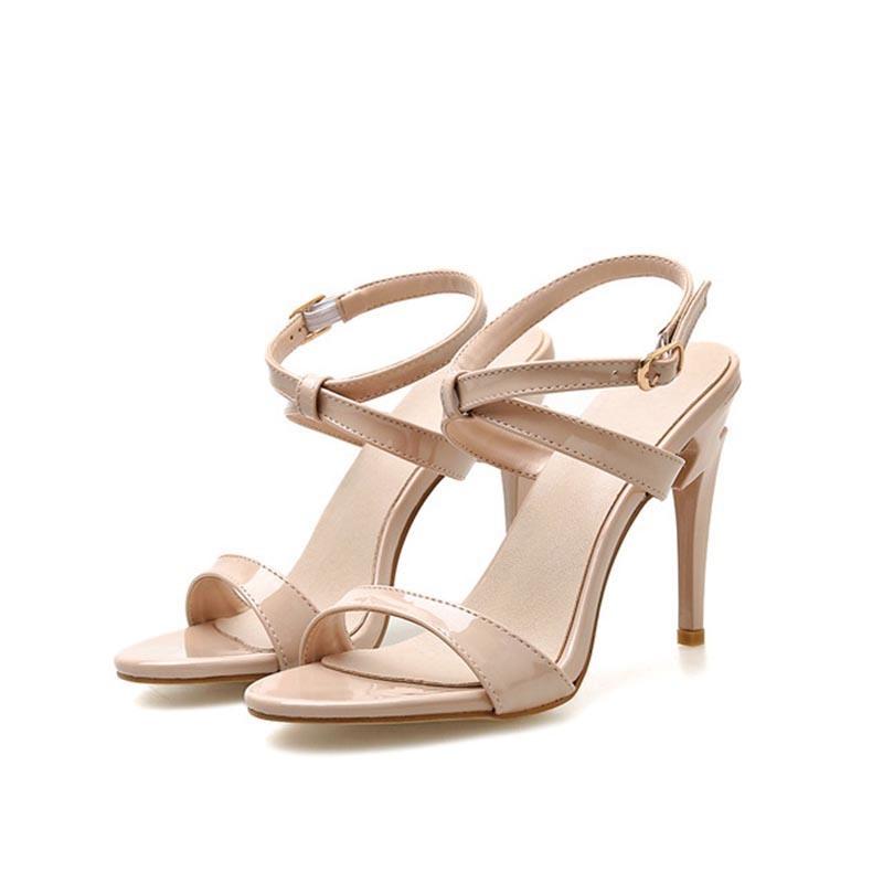 Ericdress Open Toe Buckle Stiletto Heel Casual Sandals