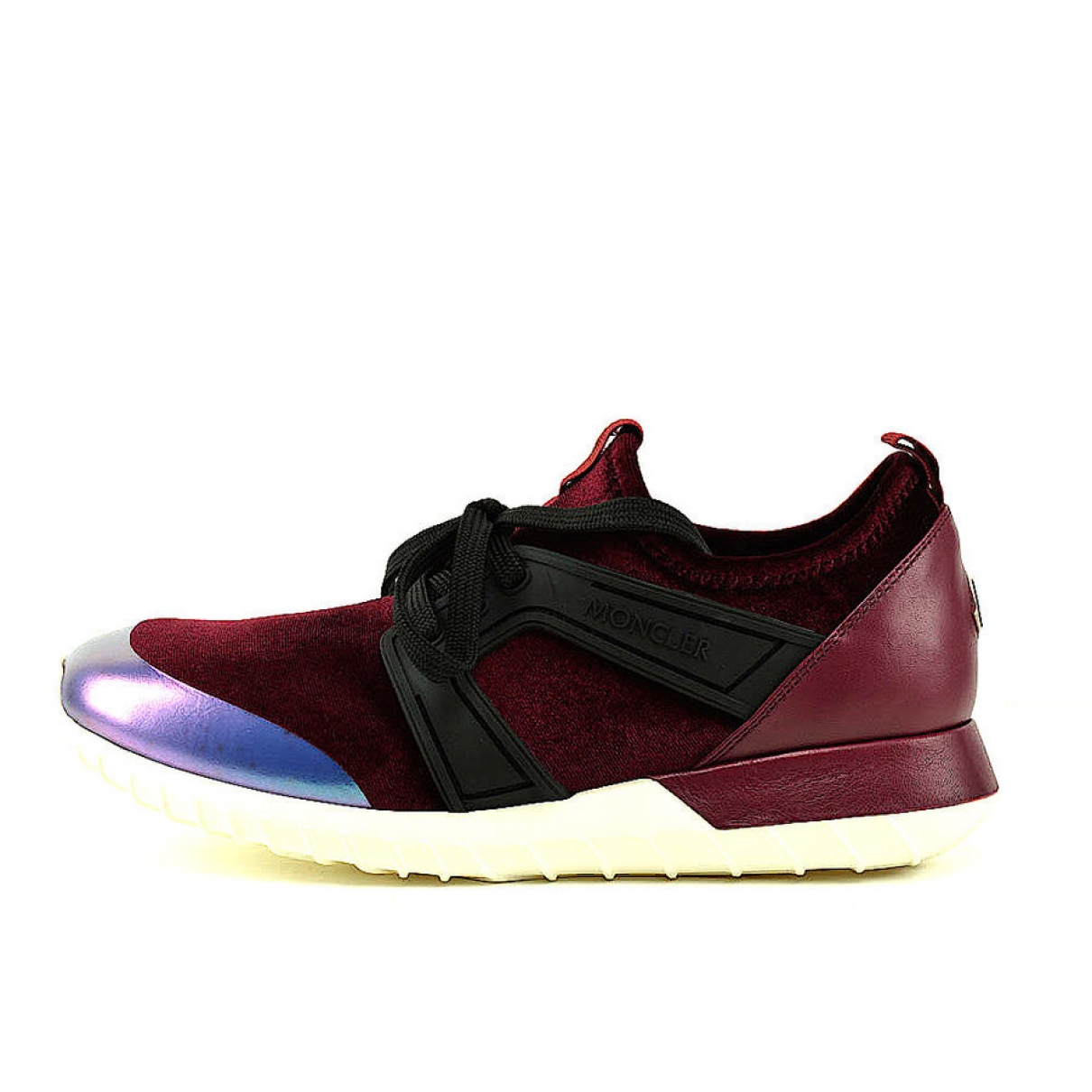 Moncler \N Burgundy Leather Trainers for Women 40 EU