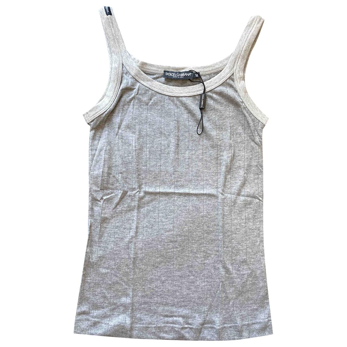 Dolce & Gabbana \N Top in  Grau Baumwolle