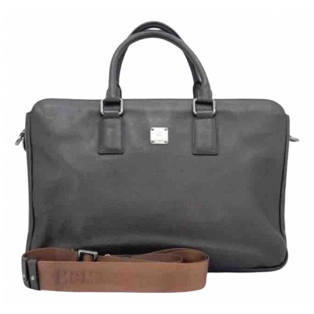Mcm N Brown Leather Small bag, wallet & cases for Men N