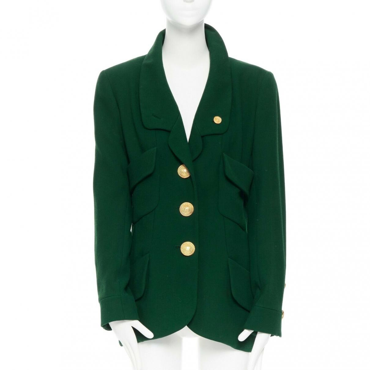 Chanel - Veste   pour femme en soie - vert