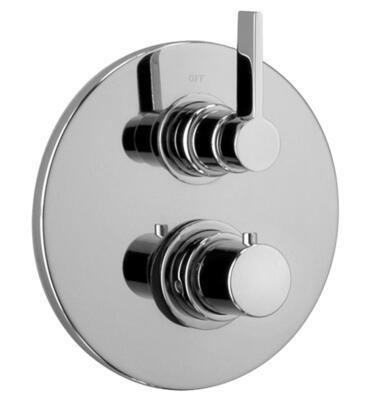 17691RIT-72 Thermostatic Valve Body With Diverter and J17 Series Trim  Designer Polished Brass