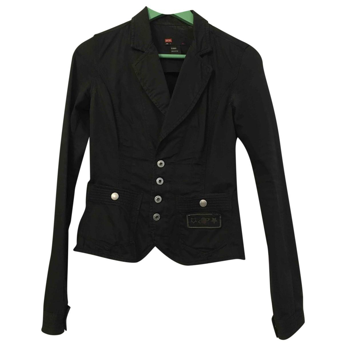 Diesel \N Black Cotton jacket for Women S International