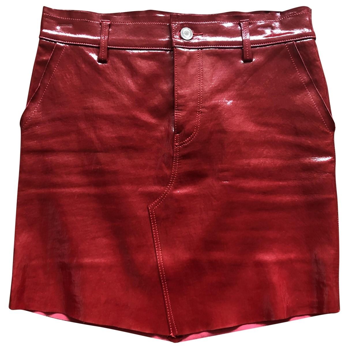 Rta - Jupe   pour femme en cuir - rouge