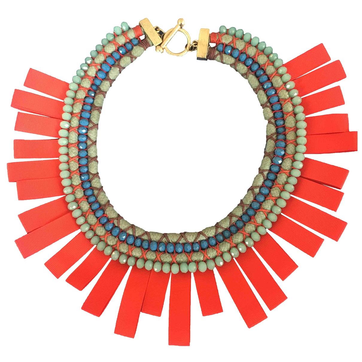 Max Mara - Collier   pour femme en perles - rouge
