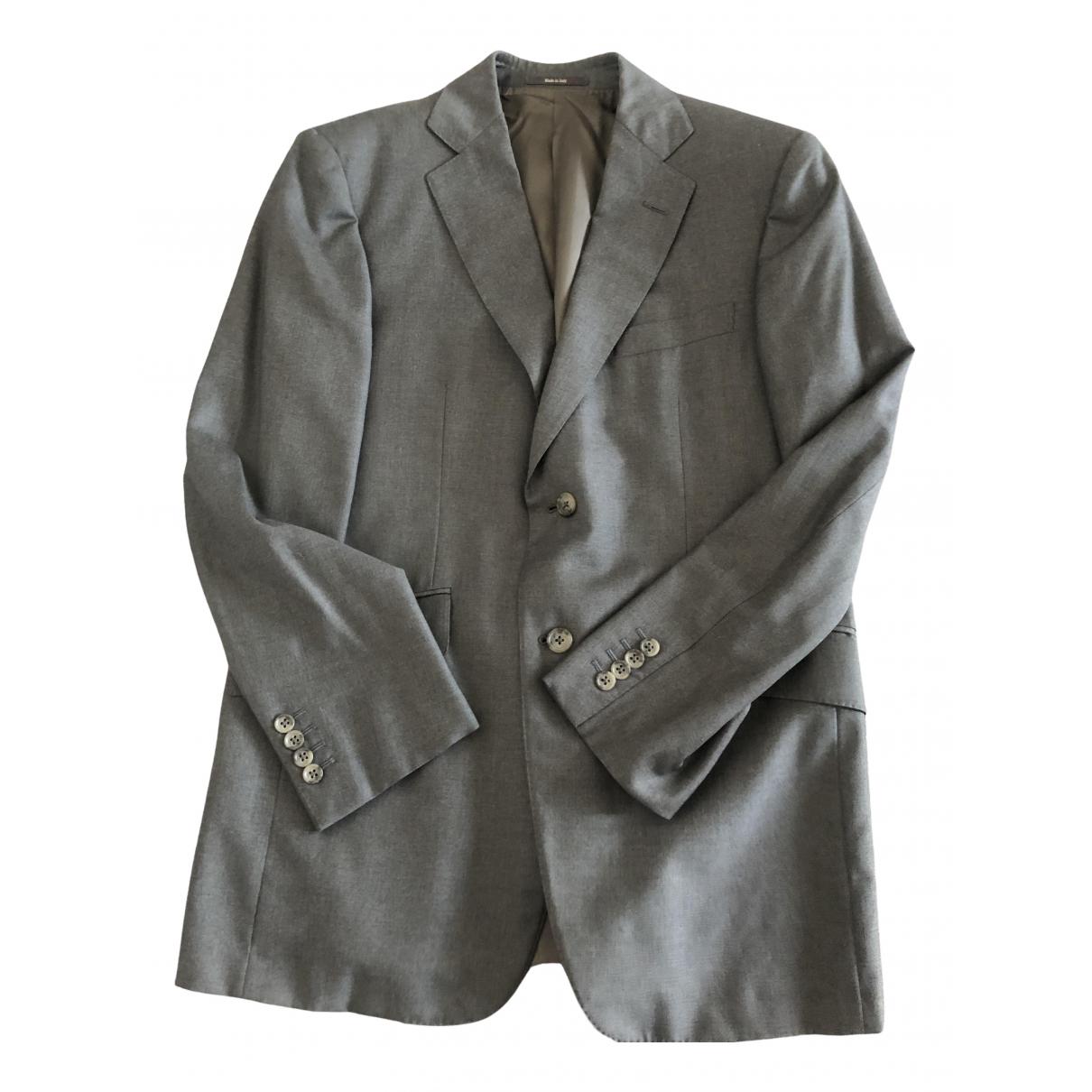 Alfred Dunhill - Costumes   pour homme en laine - gris