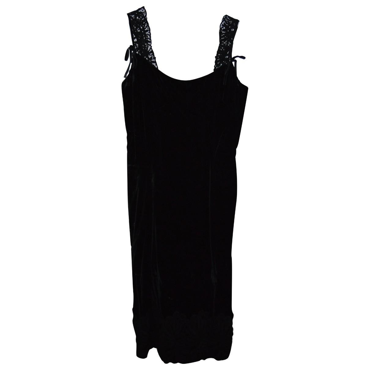 Vestido midi de Terciopelo Dolce & Gabbana