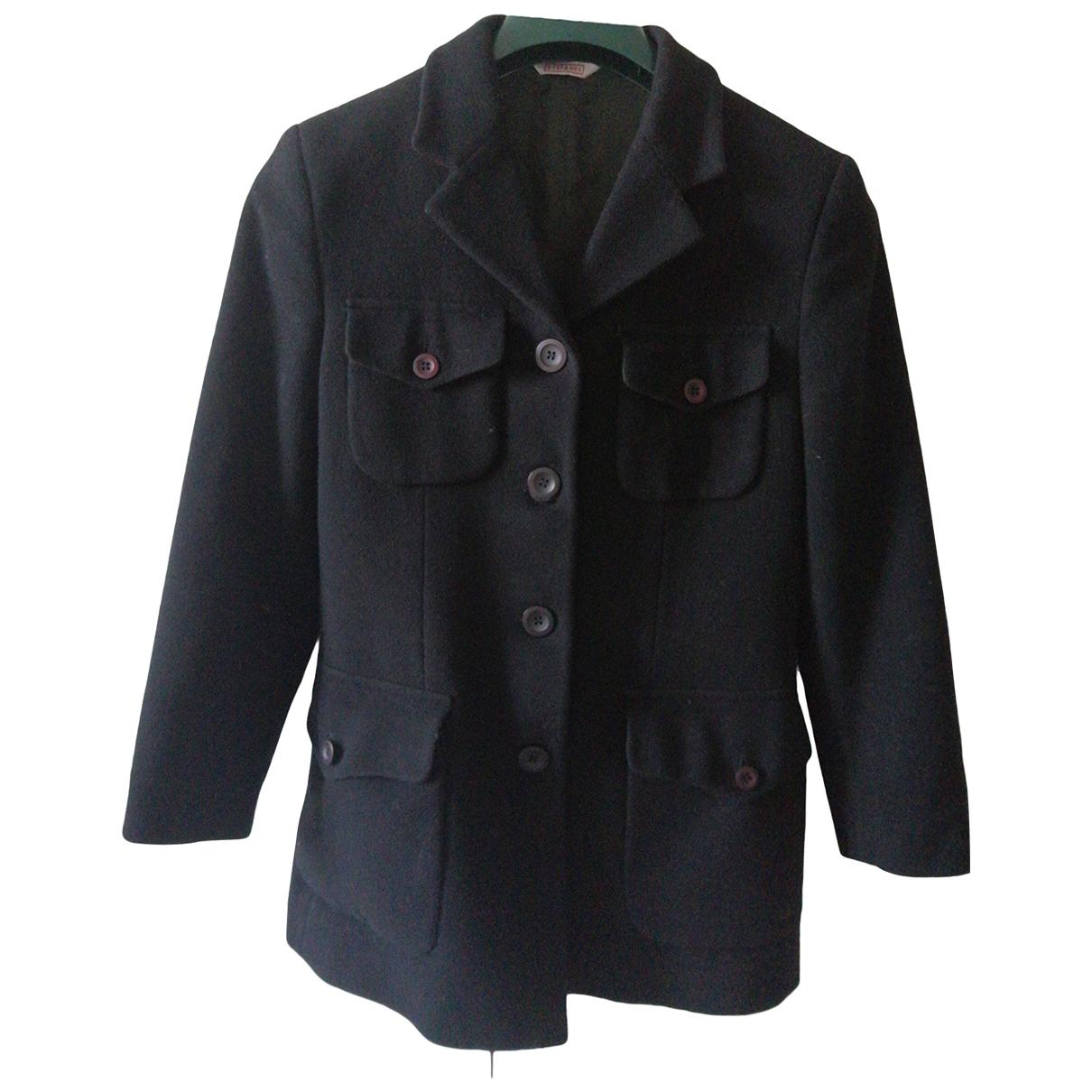Stefanel - Veste   pour femme en laine - noir