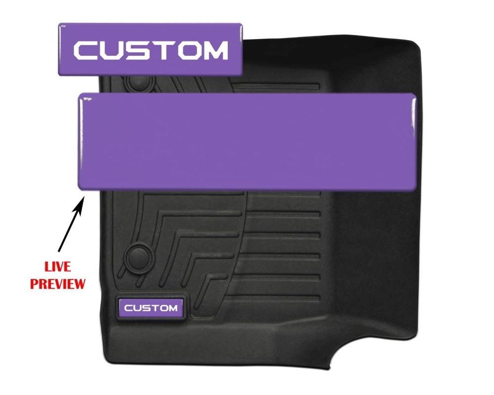 Tufskinz WTH001-PUR-238-G Badge/Emblem Inserts Fits Weathertech Floor Mats 2 Piece Kit With Custom Tundra Font (Lavender Purple Badge)