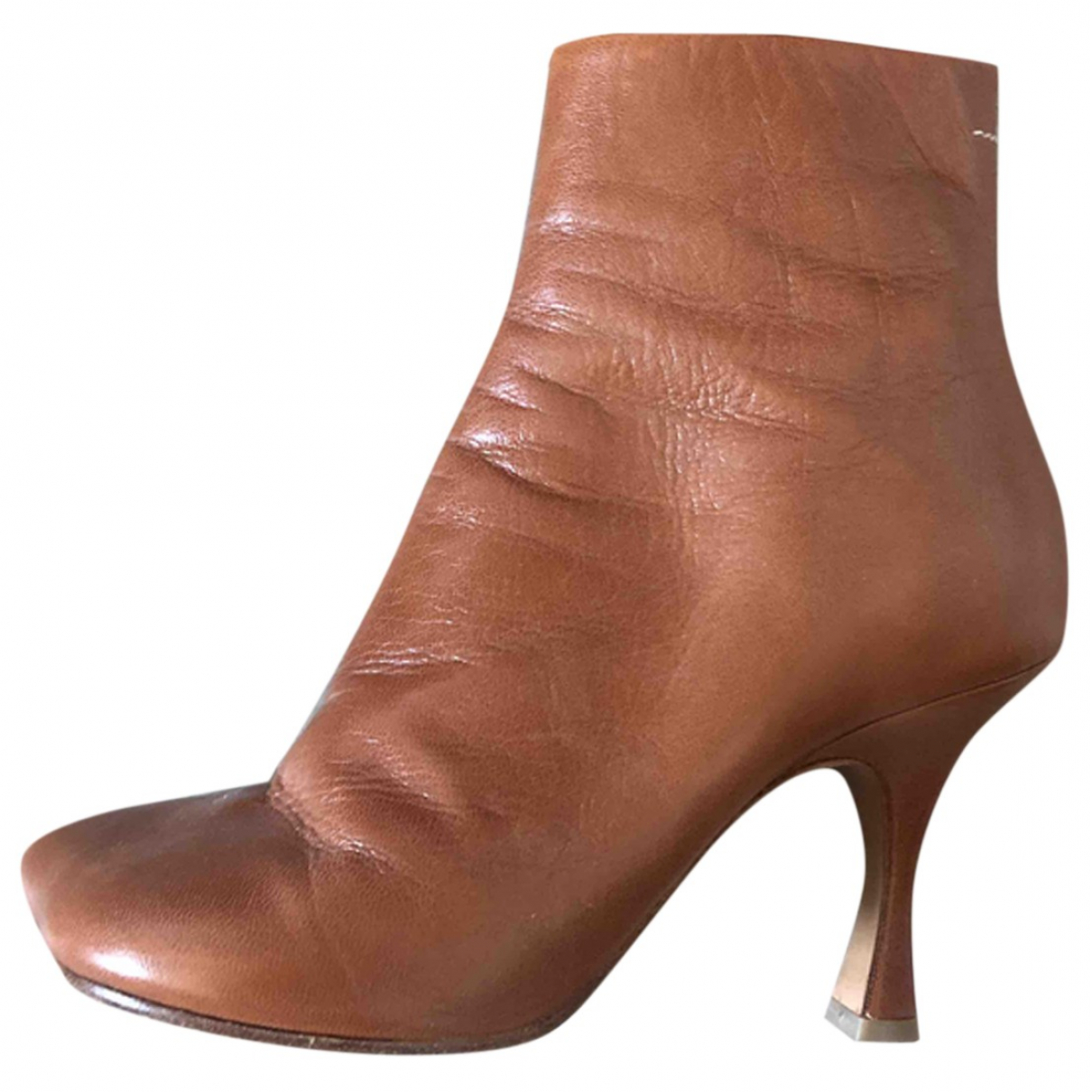 Maison Martin Margiela N Camel Leather Ankle boots for Women 39 IT