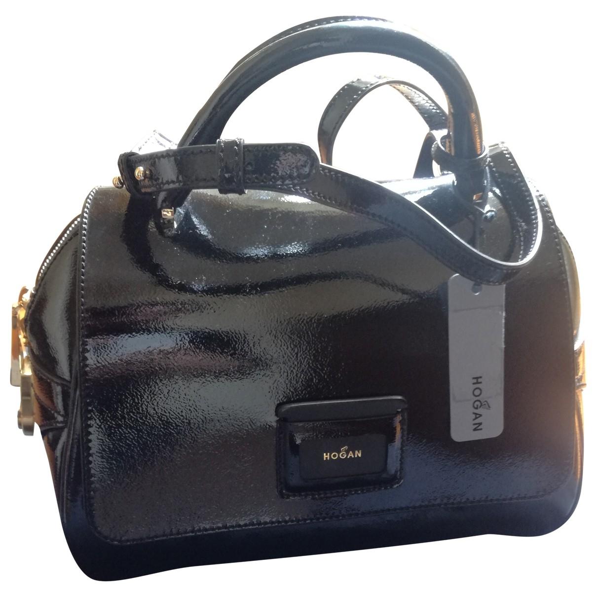 Hogan \N Handtasche in  Schwarz Lackleder