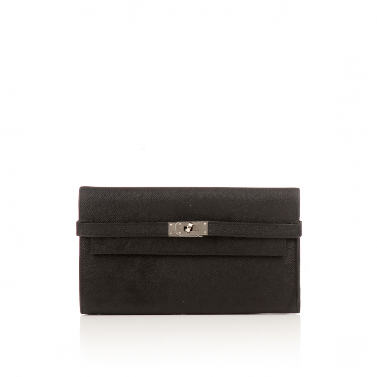 Hermès Kelly Black Leather wallet for Women \N