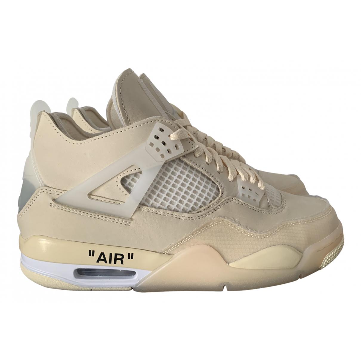 Jordan - Baskets Air Jordan 4 pour homme - beige