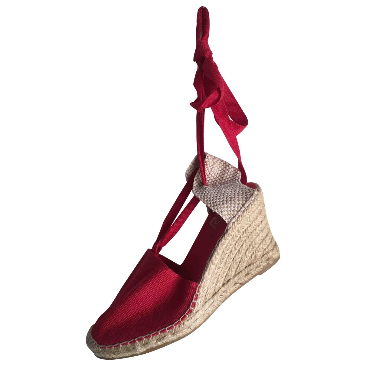Non Signé / Unsigned \N Red Cloth Espadrilles for Women 39 EU