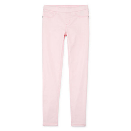 Arizona Little & Big Girls Pull-On Jeggings, 14 , Pink